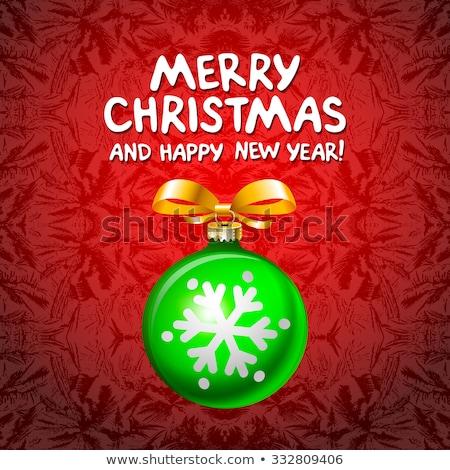 Stok fotoğraf: Soyut · yeşil · Noel · kâğıt · kırmızı