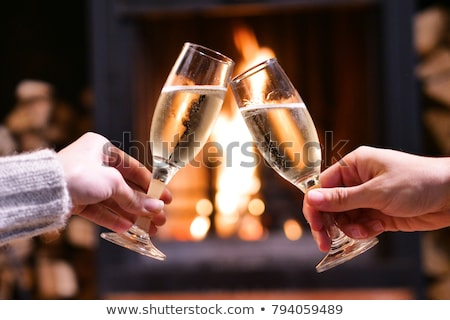 Evening of Christmas, new year in cozy and warm atmosphere Stock photo © ANessiR