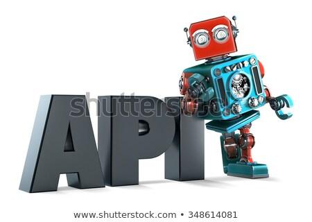 Retro robot applicazione programmazione interfaccia segno Foto d'archivio © Kirill_M