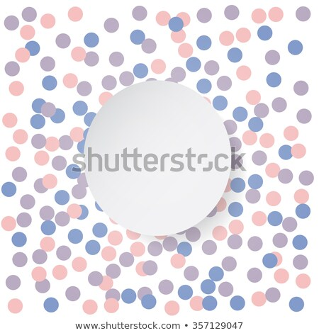 Stock photo: Confetti backdrop with white banner. Rose quarts and serenity colors. Vector illustration.