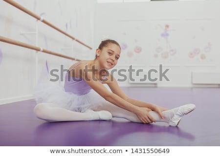 ballerina · omhoog · ballet · klasse · jonge · mooie - stockfoto © deandrobot