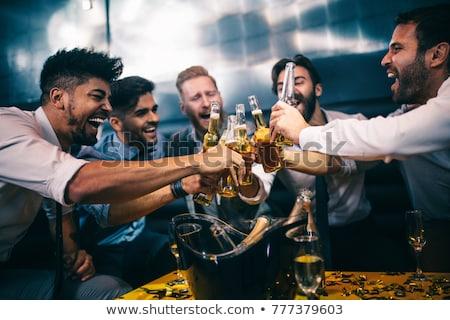 Männlich Kleben vier Männer Jeans Leder Stock foto © Hofmeester