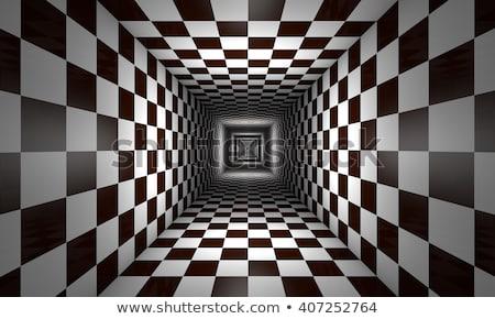 xadrez · metáfora · vermelho · bola · preto · e · branco - foto stock © grechka333