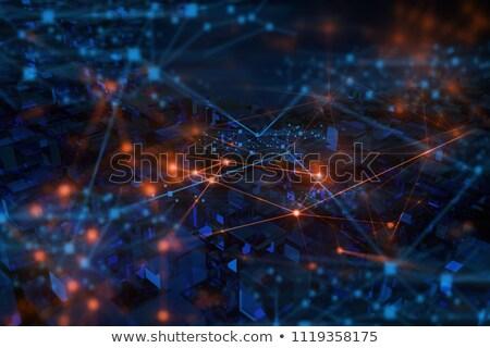 Internet dolgok kék üveg kockák távirányító Stock fotó © marinini