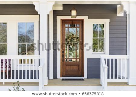 архитектурный детали дом снаружи дверей Windows кирпичных Сток-фото © LoopAll