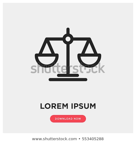 judge icon with scales and gavel stock photo © -talex-