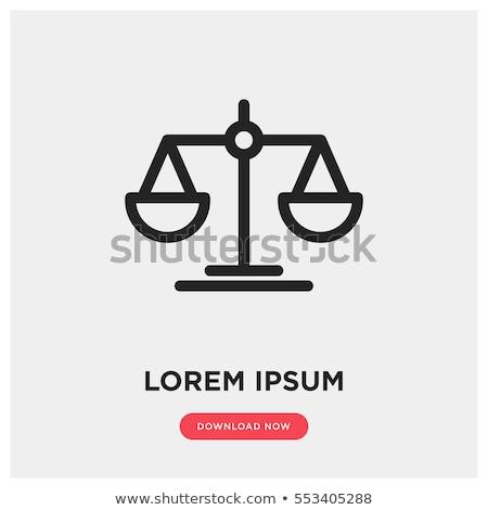 Juez icono escalas martillo delincuencia castigo Foto stock © -TAlex-