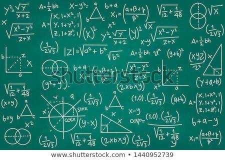Math schoolbord krijt tekst symbolen witte Stockfoto © make