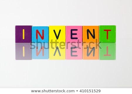 blokken · spelling · idee · symbool · creativiteit - stockfoto © capturelight