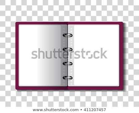Red ring binder folder on checkered background Stock photo © m_pavlov