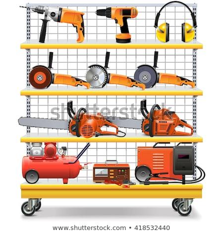 vector supermarket shelves with tools stock photo © dashadima