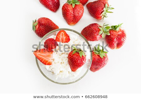 fromages · chalet · fraise · table · plaque · grasse - photo stock © lana_m