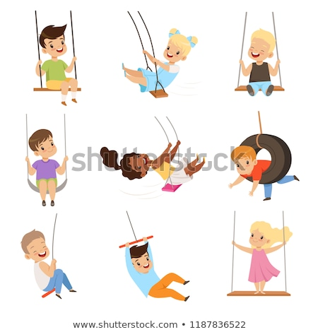 A tire swing with a rope Stock photo © bluering
