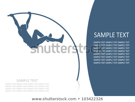 Sport icon for pole vault Stock photo © bluering