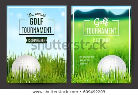 golf · torneo · volante · plantilla · invitación · vector - foto stock © enterlinedesign