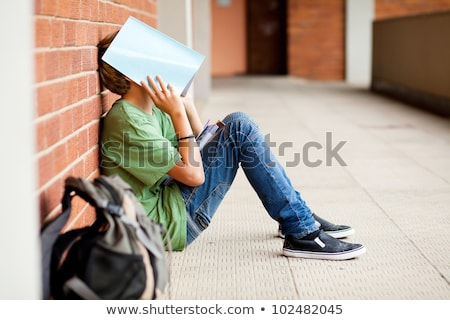 подчеркнуть · школы · молодые · кавказский · отчаянный · учитель - Сток-фото © lightsource