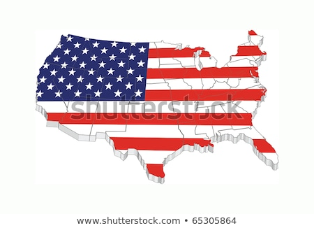 Wisconsin USA Flag United States America Map 3d Illustration Stock photo © iqoncept