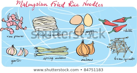 gluten free fried noodles and egg stock photo © komar
