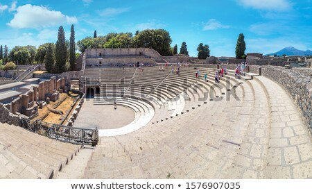 Theatre in italian pompeii. Italy Stock photo © dezign80
