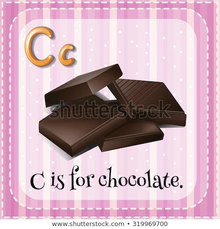 C betű csokoládé illusztráció háttér művészet oktatás Stock fotó © bluering