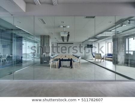 オフィス ガラス 壁 晴れた 天気 建設 ストックフォト © ultrapro