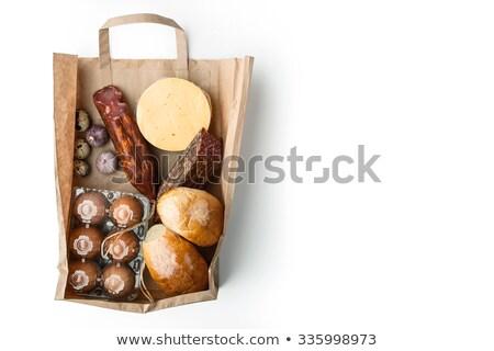 食品 紙袋 白 卵 ストックフォト © Karpenkovdenis