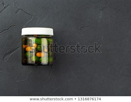 различный таблетки прозрачный стекла контейнера Top Сток-фото © viperfzk