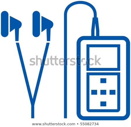 mp3 · lejátszó · zene · technológia · fehér · gomb · audio - stock fotó © vectorworks51