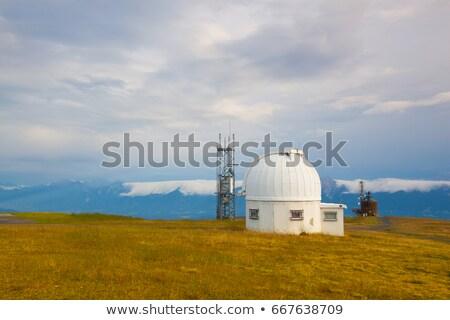 távcső · Alpok · kép · üveg · kék · utazás - stock fotó © capturelight