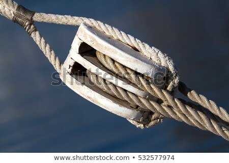 Sailing Rope Tension With The Fishing Pulley Stock photo © Digoarpi