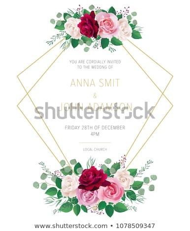 invitation bridal shower card eps 10 stock photo © beholdereye
