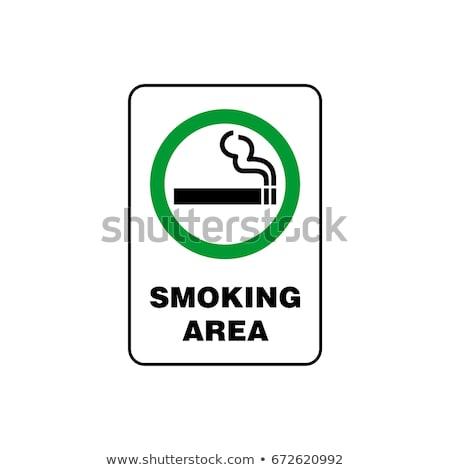 dohányzás · hely · ikon · terv · füst · felirat - stock fotó © beholdereye