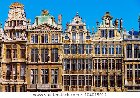 Guildhalls on the Grand Place, Brussels Stock photo © artjazz