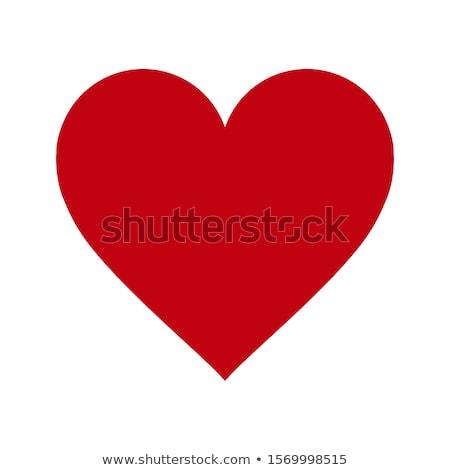 Papel rojo corazones sombra resumen corazón Foto stock © -Baks-