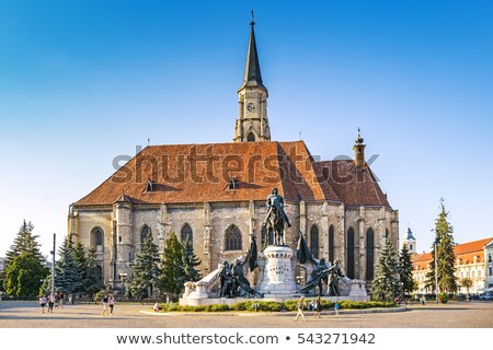 Unirii square and the medieval gothic Stock photo © frimufilms