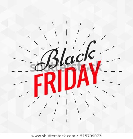 Black friday élégant texte lignes effet fond Photo stock © SArts