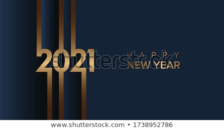 golden happy new year text on red background Stock photo © SArts