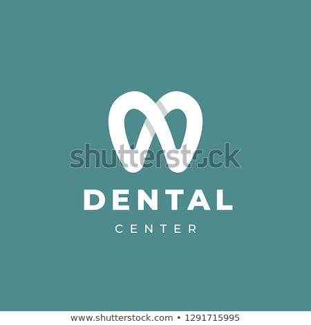 Abstract tooth design, dental illustration Stock photo © Tefi