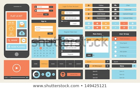 Nowoczesne login formularza użytkownik interfejs szablon Zdjęcia stock © SArts