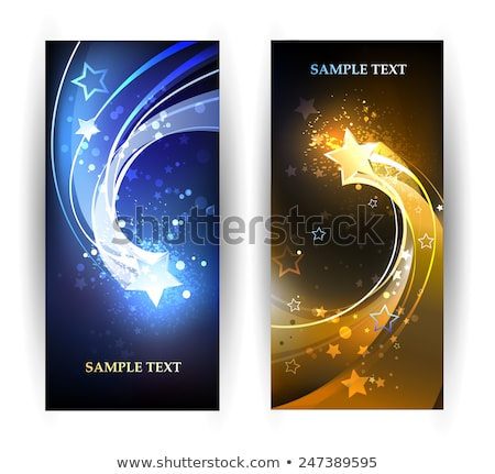 Background with two contrasting stars Stock photo © blackmoon979