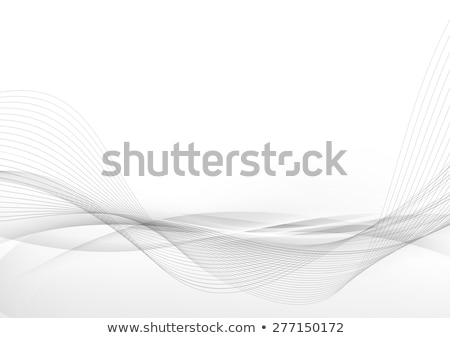 Stok fotoğraf: Abstract Curved Lines Background Template Brochure Design