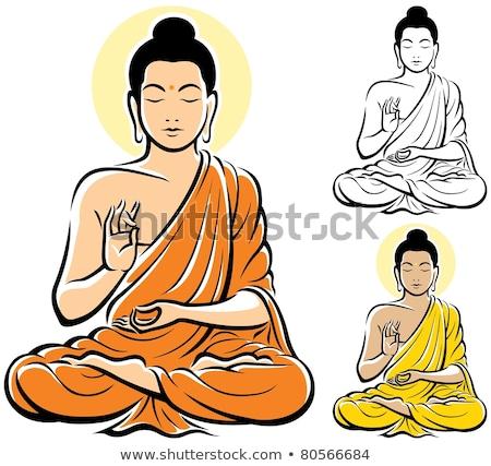 Tailandés dios Buda aislado blanco vector Foto stock © robuart