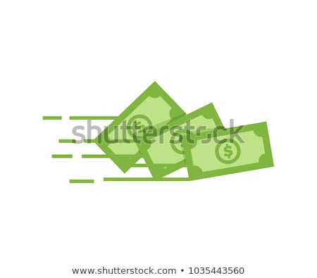 Businessman flying with dollar signs. Stock photo © RAStudio