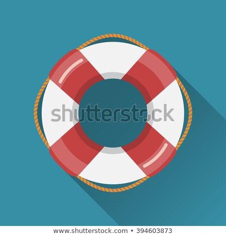 Icon stijl lang schaduw zwemmen zee Stockfoto © ylivdesign