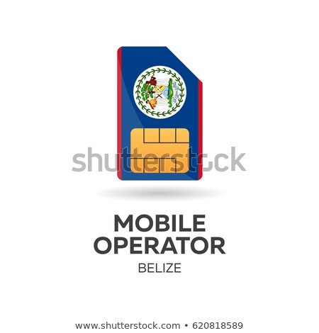 Belize mobile operator. SIM card with flag. Vector illustration. Stock photo © Leo_Edition