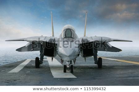 Modern Military Fighter Jet Aircraft Stock photo © jeff_hobrath