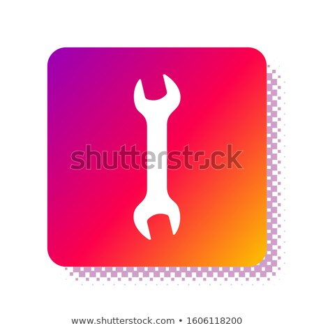 Fém csavarkulcs fehér 3d illusztráció munka háttér Stock fotó © make