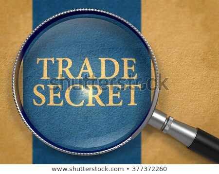 Handel Geheimnis Linse Altpapier dunkel blau Stock foto © tashatuvango