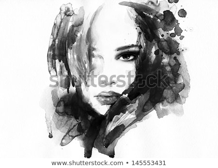 Watercolor eye, hand painted fashion illustration Stock photo © igor_shmel