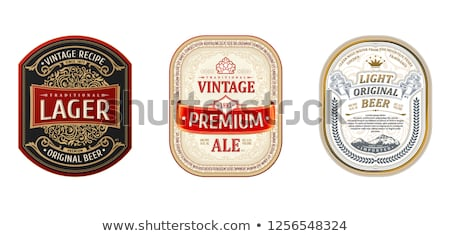 Vintage frame design for beer labels Stock photo © reftel